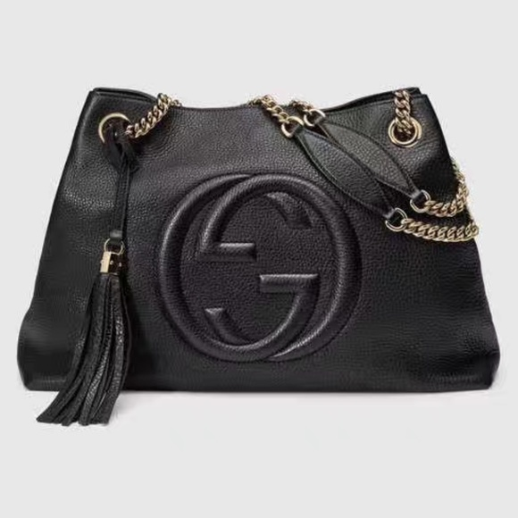 a9954102bd5 Gucci Soho Leather Chain-Strap Tote Shoulder Bag